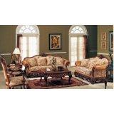 金富雅亨利美家古典色深色D7系列(D7-53C)三人沙发