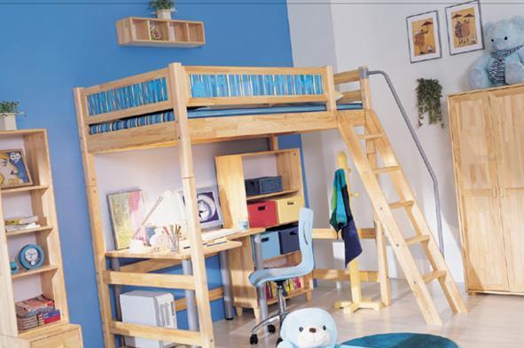 雅琴居儿童高层床经典套房高层床