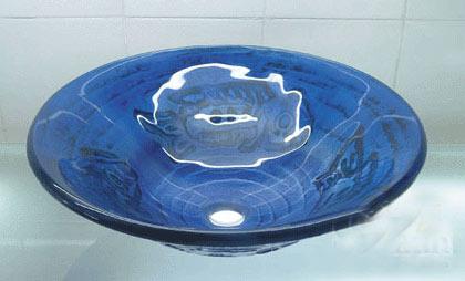古亚立体玻璃盆Y229