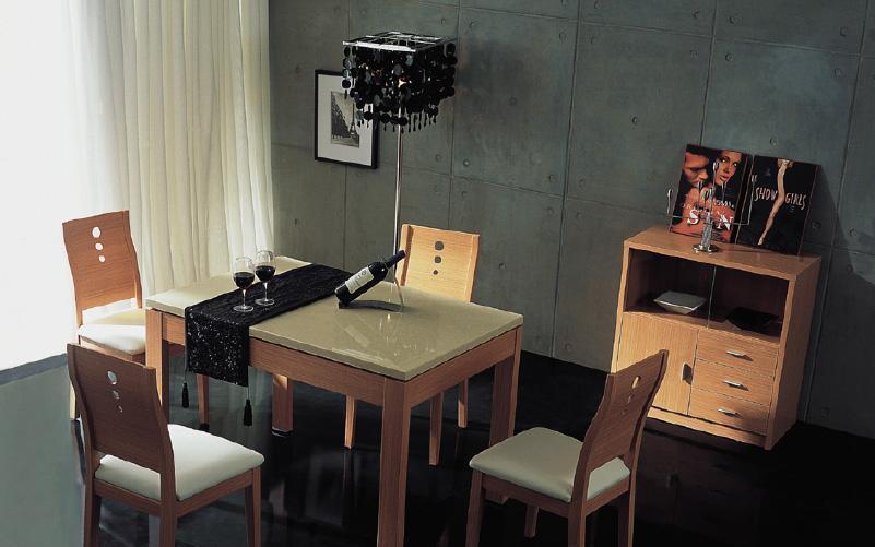 树之语加枫系列CT035餐桌(米�S色大理石面)CT035