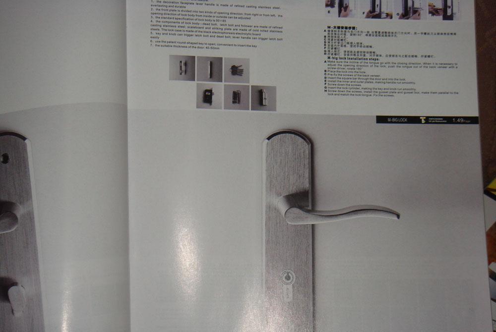 顶固通道锁高强合金卫浴锁ETG7101CPETG7101CP