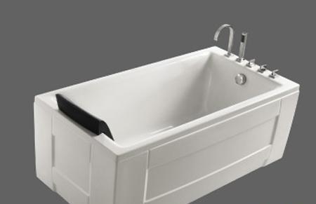 美加华压克力五金件双裙浴缸M-1532SQ(含去水/带M-1532SQ
