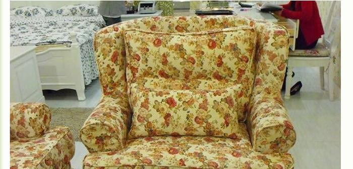 龙森T01单人沙发( 白色田园)T01