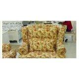 龙森T01单人沙发( 白色田园)