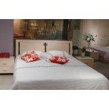 诺捷卧室家具双人床架6E086白枫