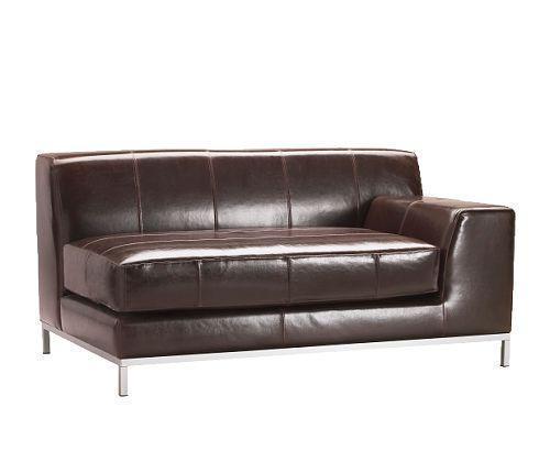 宜家右扶手克莱弗(深褐色/黑色)双人皮沙发