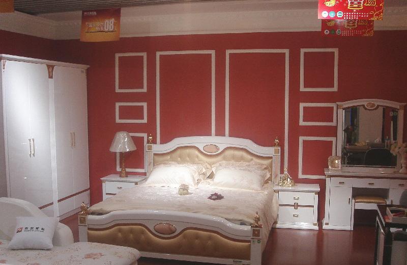 双虎整体卧室(床架+衣柜+床头柜+妆台)B805/B806B805/B806