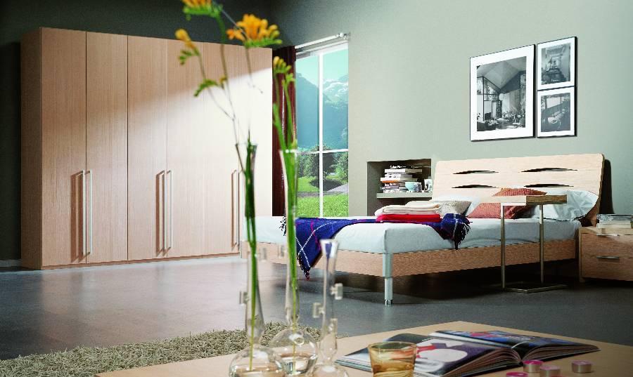 耐特利尔原橡木系列双人床-5