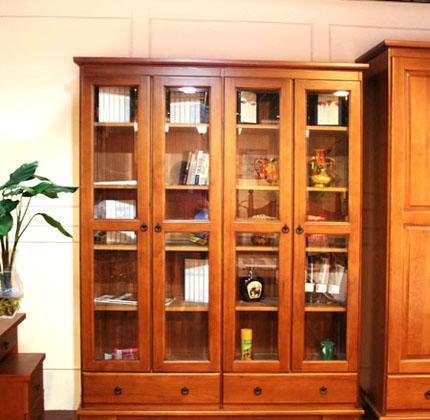 思可达书房家具308型四门书柜-1308型四门书柜-1