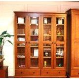 思可达书房家具308型四门书柜-1