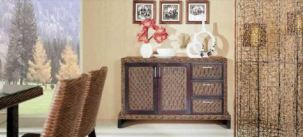 翡翠藤器餐柜一件套奥德奥德