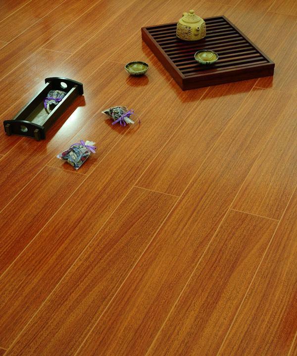 德尔中式风格ZC08黄金菠萝格强化复合地板ZC08