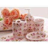 多样屋红粉佳人卫浴系列红粉佳人陶瓷四件套/粉