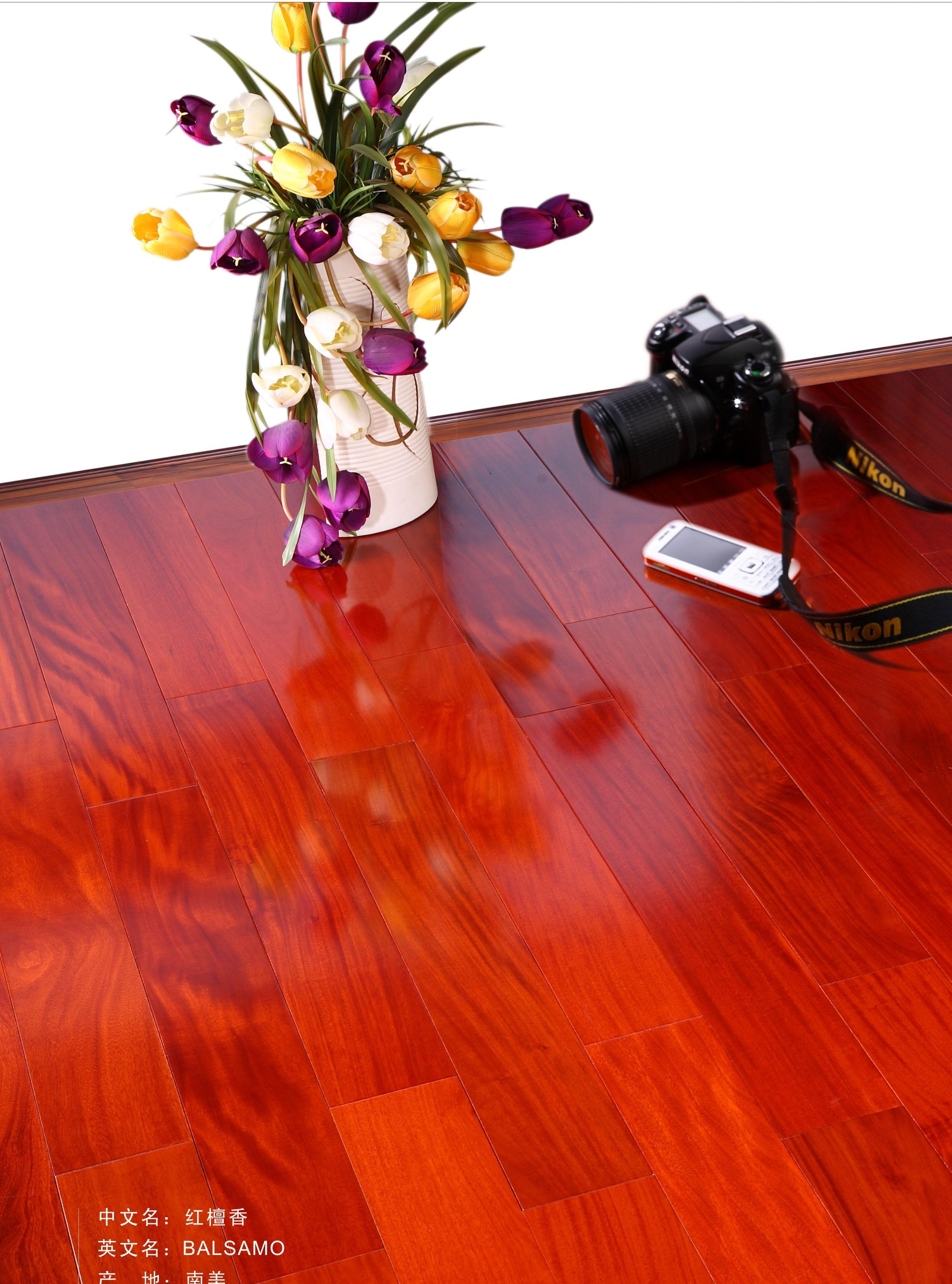 新绿洲直线实木系列红檀香实木地板红檀香