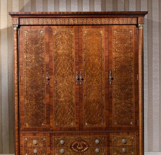 大风范家具奥菲斯主卧系列OP-851-4四门衣柜OP-851-4四门衣柜