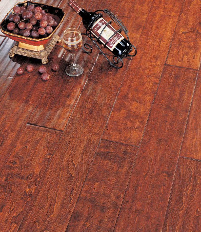 北美枫情实木复合地板王后居室系列-波尔多红波尔多红