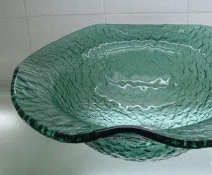 古亚立体玻璃盆Y172