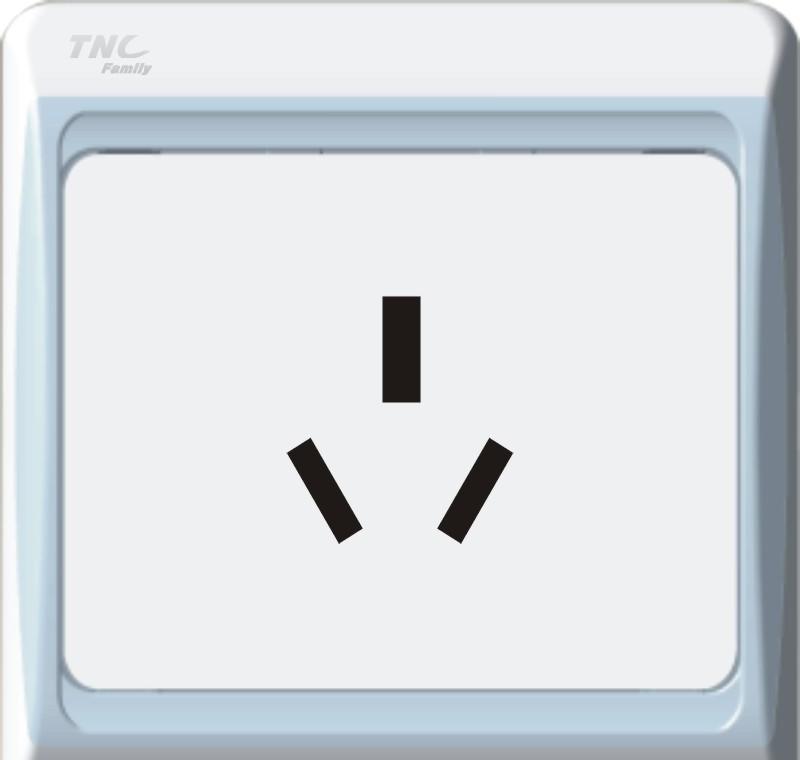 TNC A系列10A三极插座(银色)