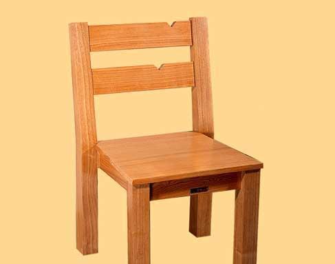 树之语全实木水曲柳原木系列L-餐椅2#L-餐椅2#
